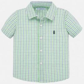 Koszula w kratkę chłopięca Mayoral 1158-10 Zielony