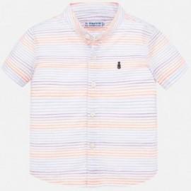 Koszula w paski dla chłopca Mayoral 1161-80 Pomarańcz neon