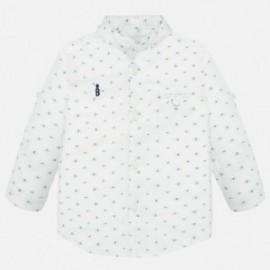 Koszula z długim rękawem chłopięca Mayoral 1163-86 Biały