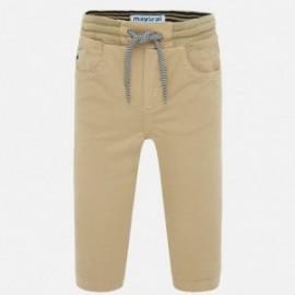 Spodnie ze ściągaczami dla chłopców Mayoral 1547-68 brązowe