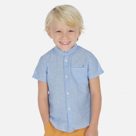 Koszula lniana chłopięca Mayoral 3161-32 Błękitny