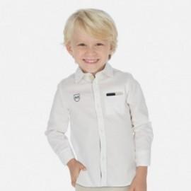 Koszula z długim rękawem chłopięca Mayoral 3171-18 Biały