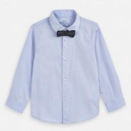 Koszula z długim rękawem z muszką chłopięca Mayoral 3173-19 Błękitny