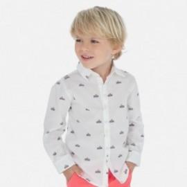 Koszula z nadrukiem chłopięca Mayoral 3176-11 Biały