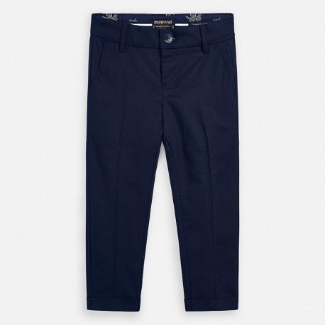 Spodnie lniane dla chłopców Mayoral 3528-43 Granatowe