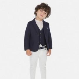 Spodnie klasyczne z paskiem chłopięce Mayoral 3531-43 Biały
