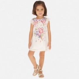 Sukienka satynowa dziewczęca Mayoral 3912-68 Różowy