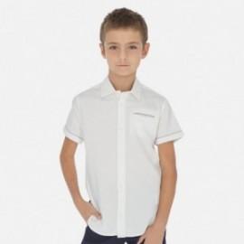 Koszula z krótkim rękawem chłopieca Mayoral 6147-40 Biały